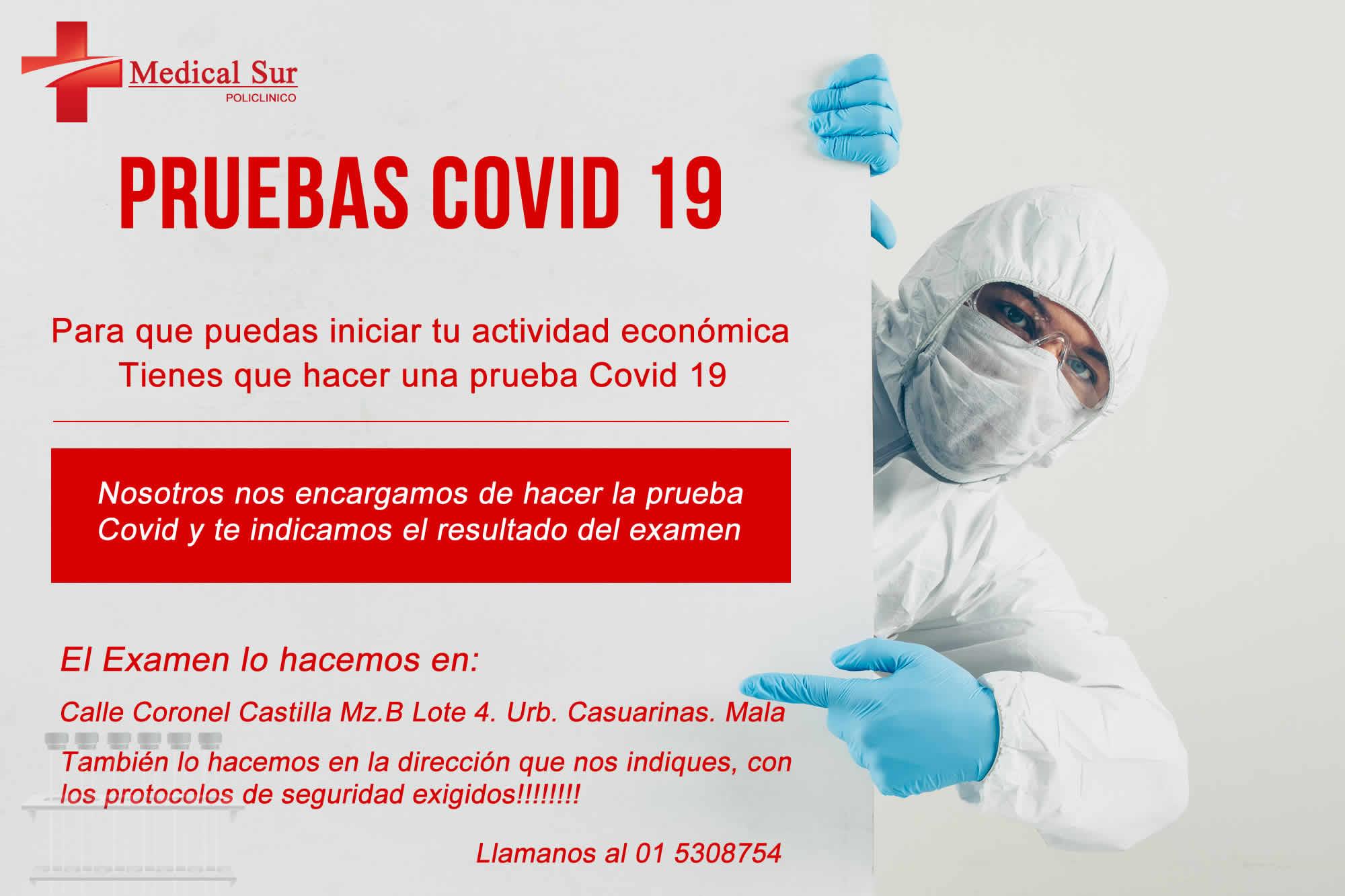 POLICLINICO MEDICAL SUR | PRUEBA COVID